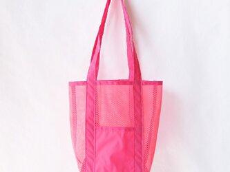 メッシュバッグ(蛍光ピンク)の画像