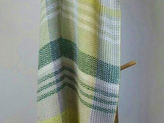 手織りシルクストールⅢ グリーンの画像