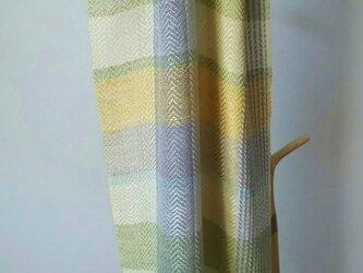 手織りシルクストールⅢ 北欧カラーの画像