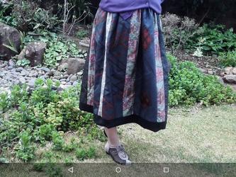 オリジナル*パッチワーク*リバーシブル*スカート  ネット外―soldの画像