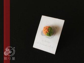 片耳【いろいろ色粒の耳飾り~メロン】の画像