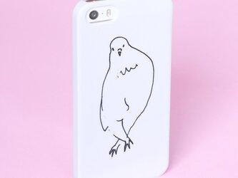 *足バッテン貴婦人*スマホケース 白 機種選べます トリ 鳥 ハト 鳩 インコ Xperia iPhone Androidの画像