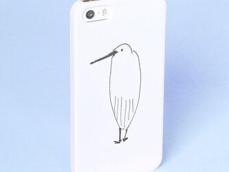 *サギなヤツ* スマホケース 白 機種選べます サギ さぎ 鷺 トリ 鳥 Xperia iPhone Androidの画像
