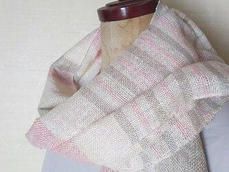 上質シルク100 手織りストール 341の画像