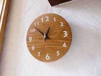 ヤマザクラの時計 30センチ 060s 文字盤白色の画像