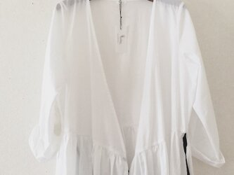 cotton robe onpiece*Ladies*whiteの画像