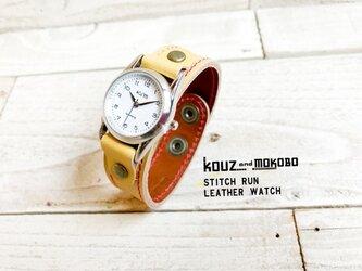 【送料無料】毎日つけていたくなる時計「ステッチラン 腕時計」受注生産(SRW-YBY-RA)Ⅱの画像