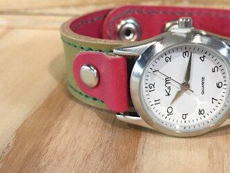 【送料無料】毎日つけていたくなる時計「ステッチラン 腕時計」受注生産(SRW-ORR-GS)Ⅱの画像