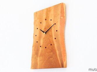 サクラの耳付き板の時計 2の画像