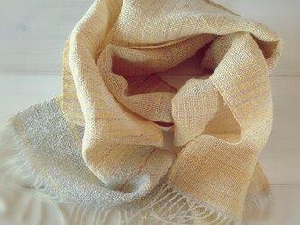 手織り・手染め リトアニアリネンのストールの画像