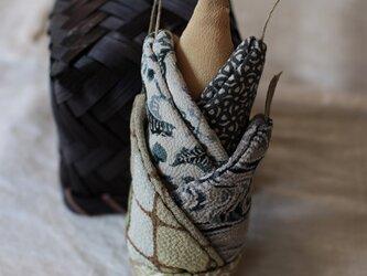 ヴィンテージ着物の竹の子 縮緬の画像