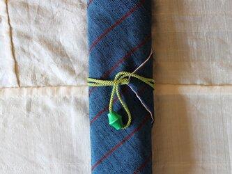 ヴィンテージ着物の箸包み 紬の画像