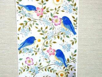 A4サイズポスター「花と小鳥」の画像