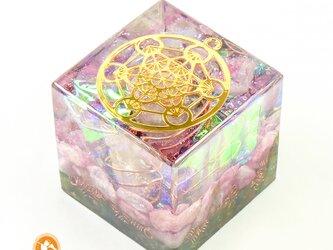 大天使メタトロンのオルゴナイトキューブ フルーツオブライフ cube100100012の画像