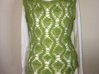 抹茶カラーのサマーセーターの画像