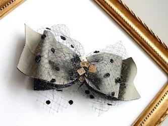 リボンミニヘッドドレス/gray(全2色)の画像