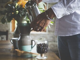 RSMオリジナル Coffee dripper & serverの画像
