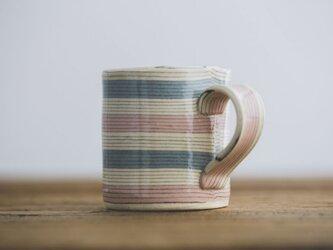 坂下花子 マグカップ(水色×ピンク)の画像