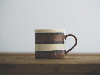 坂下花子 マグカップ(栗色ボーダー)の画像
