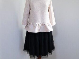 【Set】ベビーピンク★ツイードペプラムプルオーバー&チュールスカートの画像