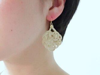 着物にも合う、chinese knotのピアス。(イヤリング可)の画像