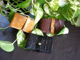 スレンダー&スリム財布 型押しG の画像