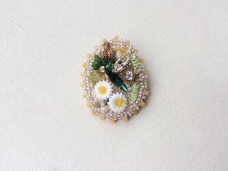 bさまご依頼品 no.7. Flower garden ブローチの画像