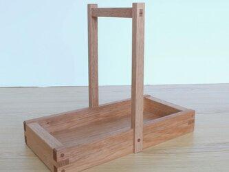 岡持型整理箱(クルミ)の画像
