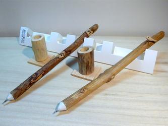 森からの贈りもの  三角ケース入り小枝ペン 花&小鳥 の画像