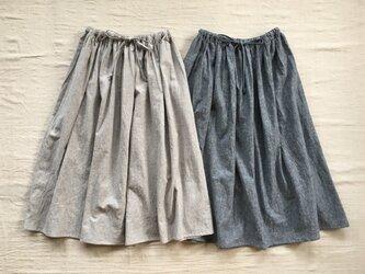 綿麻ギャザースカート【オーダー可能】の画像