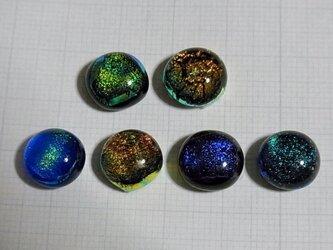 ヒュージンググラス6個セット(ダイクロガラス)の画像