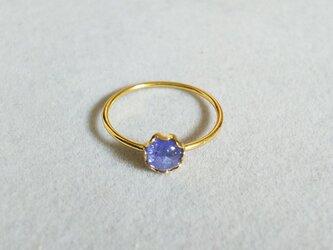 宝石質タンザナイトベゼルリング(10号)の画像