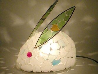 シーグラスランプ 雪うさぎのランプ-15の画像