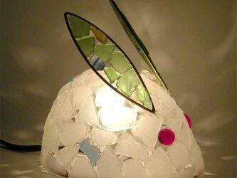 シーグラスランプ ちびうさぎのランプ-33の画像