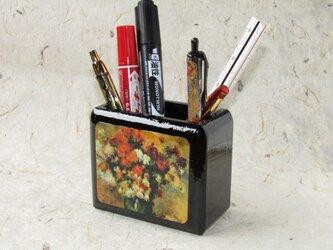 ✨くるみ工房✨漆コーティングペン立て小物入れ 絵画ルノワールの画像