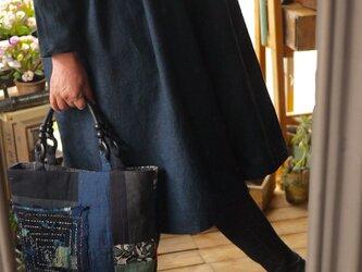 久留米絣と古布バックの画像