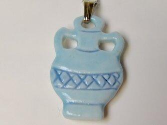 ネックレス 青い壷の画像