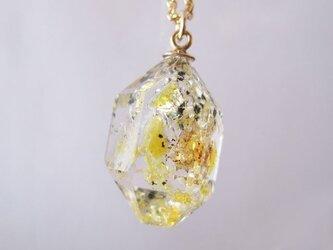レア☆オイルインクォーツの原石ネックレス/Pakistan/yellow oil[12]   14kgfの画像