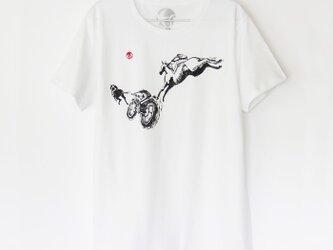 ウマくんのTシャツ white×blackの画像