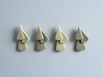 木製のシンプルブローチ tier series No.1 (br001)の画像