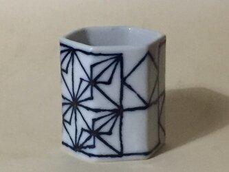 Z044 磁器染付酒杯(筒杯、ショットカップ)の画像