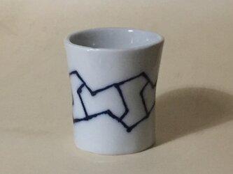Z045 磁器染付酒杯(筒杯、ショットカップ)の画像