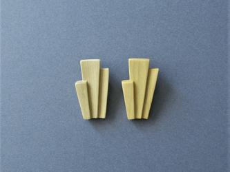 木製のシンプルブローチ tier series No.2 (br002)の画像