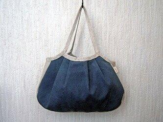 リネンコットンのグラニーバッグ ログウッドと藍の紺染めの画像