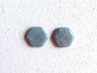【iichi掲載作品】Hexagon : 亀甲釉 : ピアス/イヤリングの画像