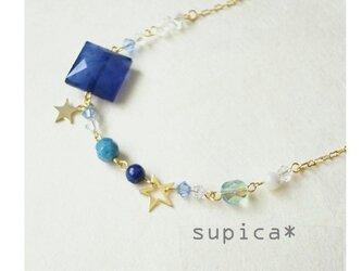 s33_GN387 瑠璃色の星 ラピスラズリのネックレスの画像