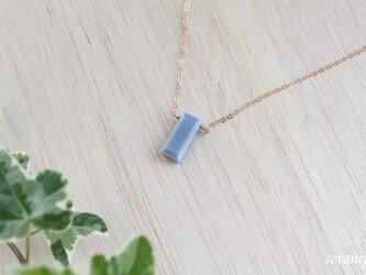 ブルーオパール一粒ネックレスの画像