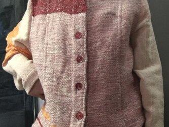 さをり織り素敵 シャツ ジャケット 送料無料の画像