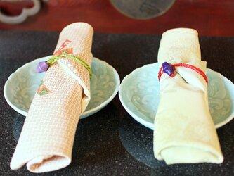 ヴィンテージ着物 箸包み 袱紗 五月の節句に ペアでお使いくださいの画像