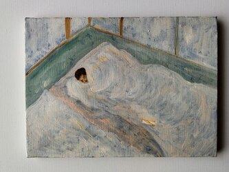油彩 F4 愛するアカキチママ 今アカキチ起きた 愛するアカキチママの画像